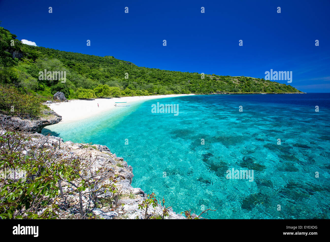 A beach near Baucau on Timor's Northern coast; Timor-Leste Stock Photo