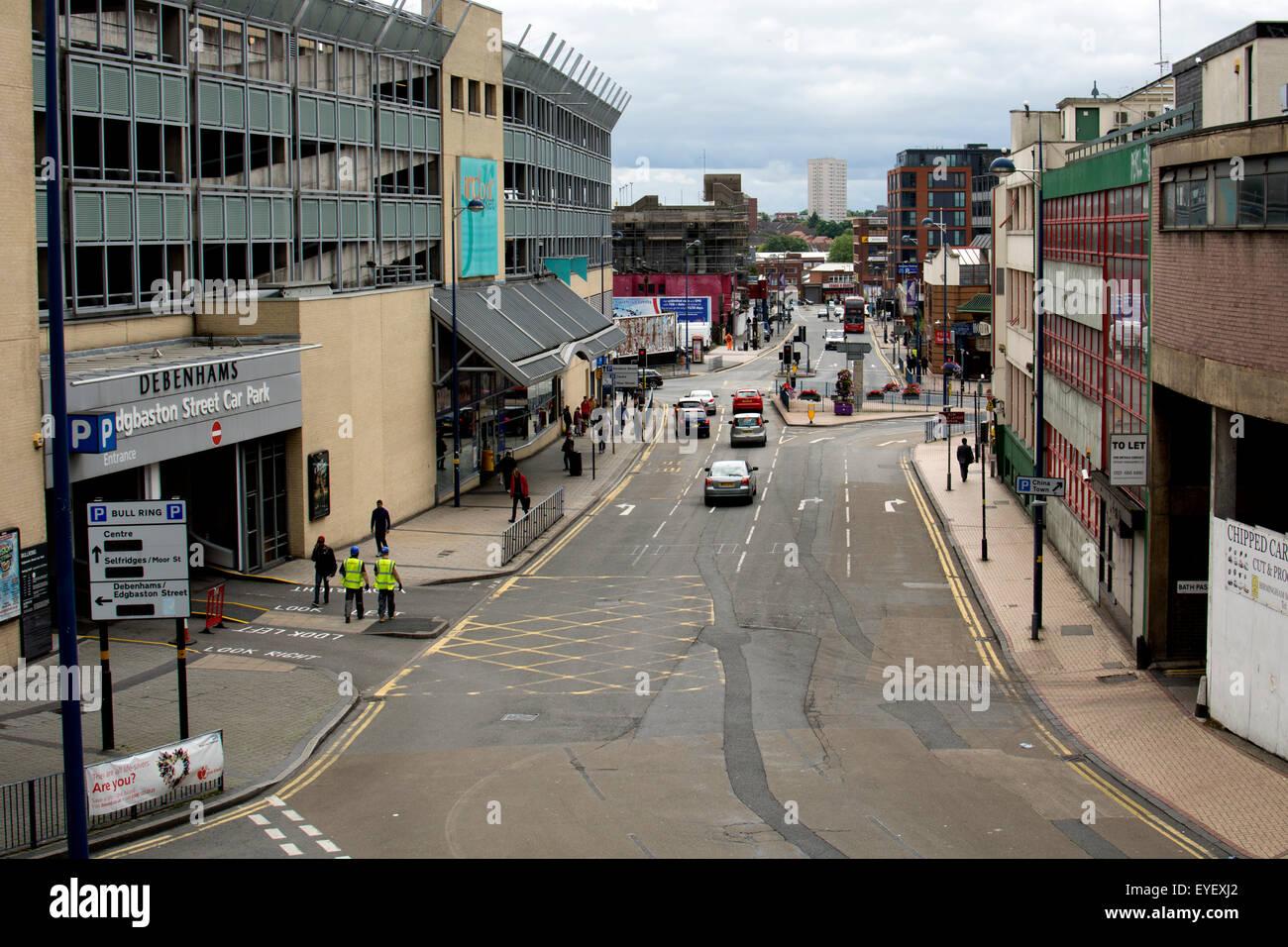 Dudley Street, Birmingham city centre, UK - Stock Image