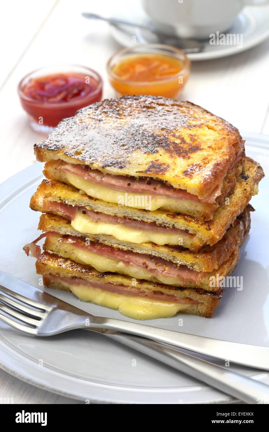 monte cristo sandwich, american food - Stock Image