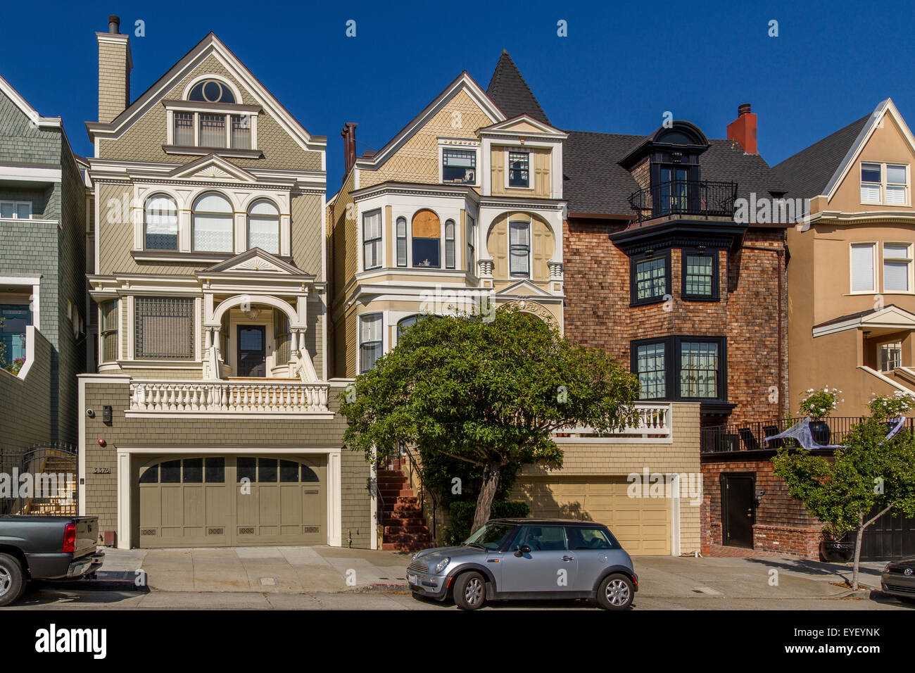 Luxury Homes In The Affluent Pacific Heights Area Of San Francisco  ,California ,USA