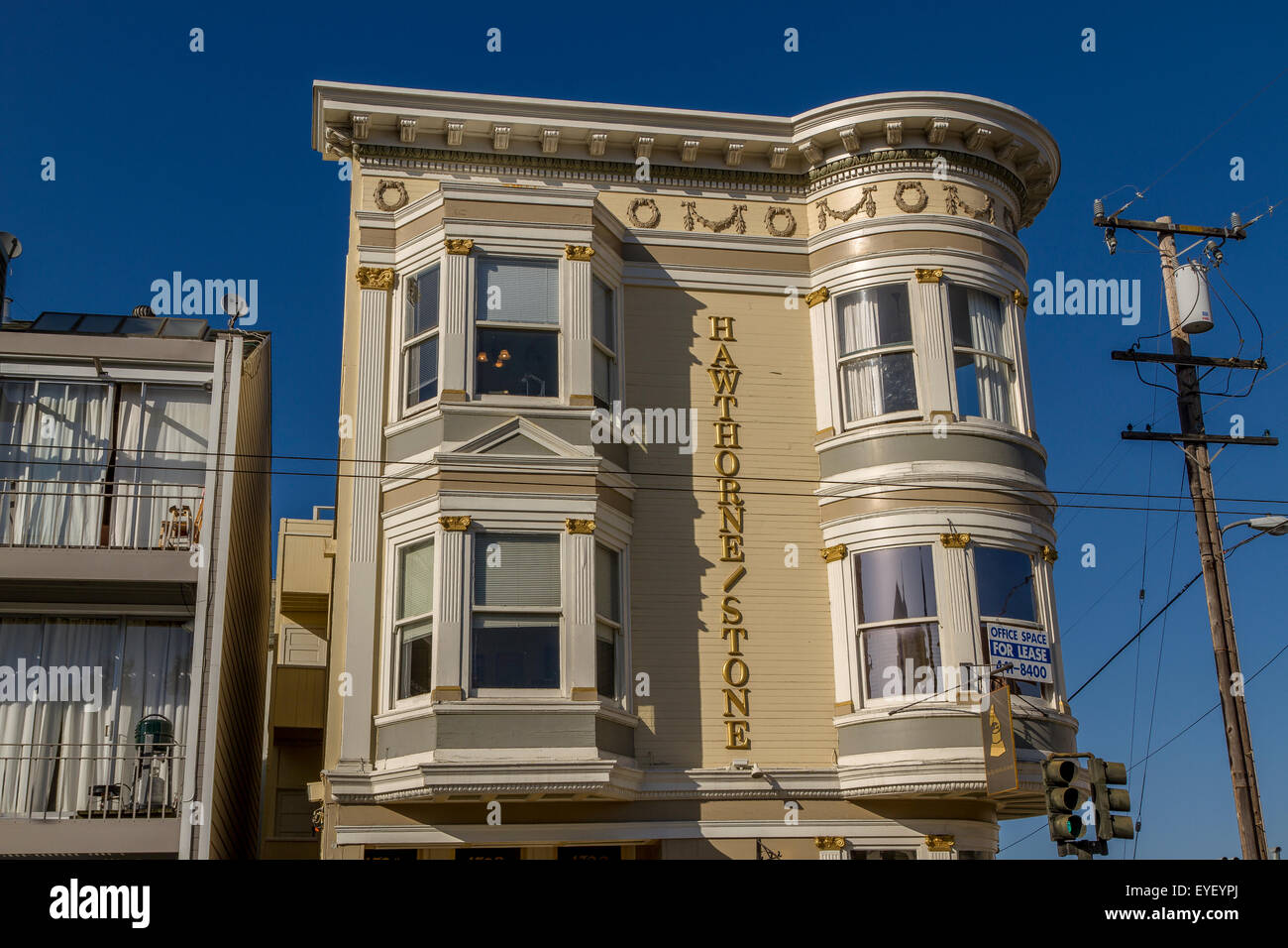 Beautiful Victorian House In San Francisco - Stock Image