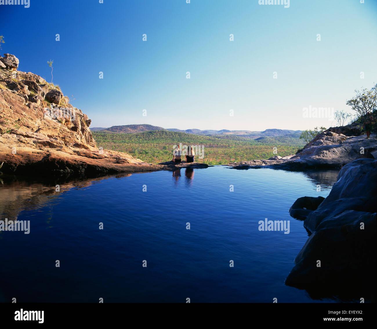 Gunlom Falls; Northern Territory, Australia Stock Photo