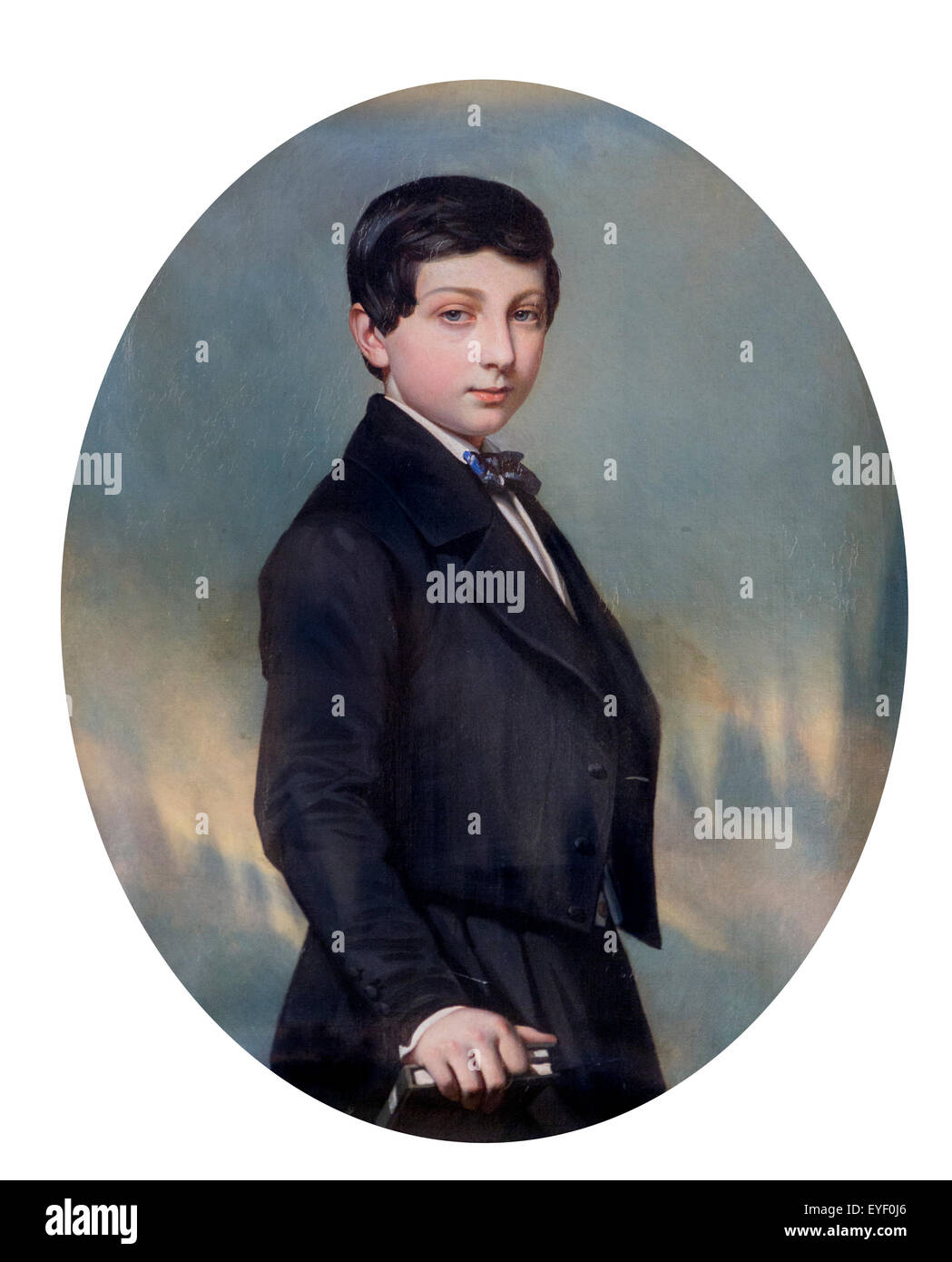 Portrait of Edouard Andre child 08/01/2014 - 19th century Collection - Stock Image