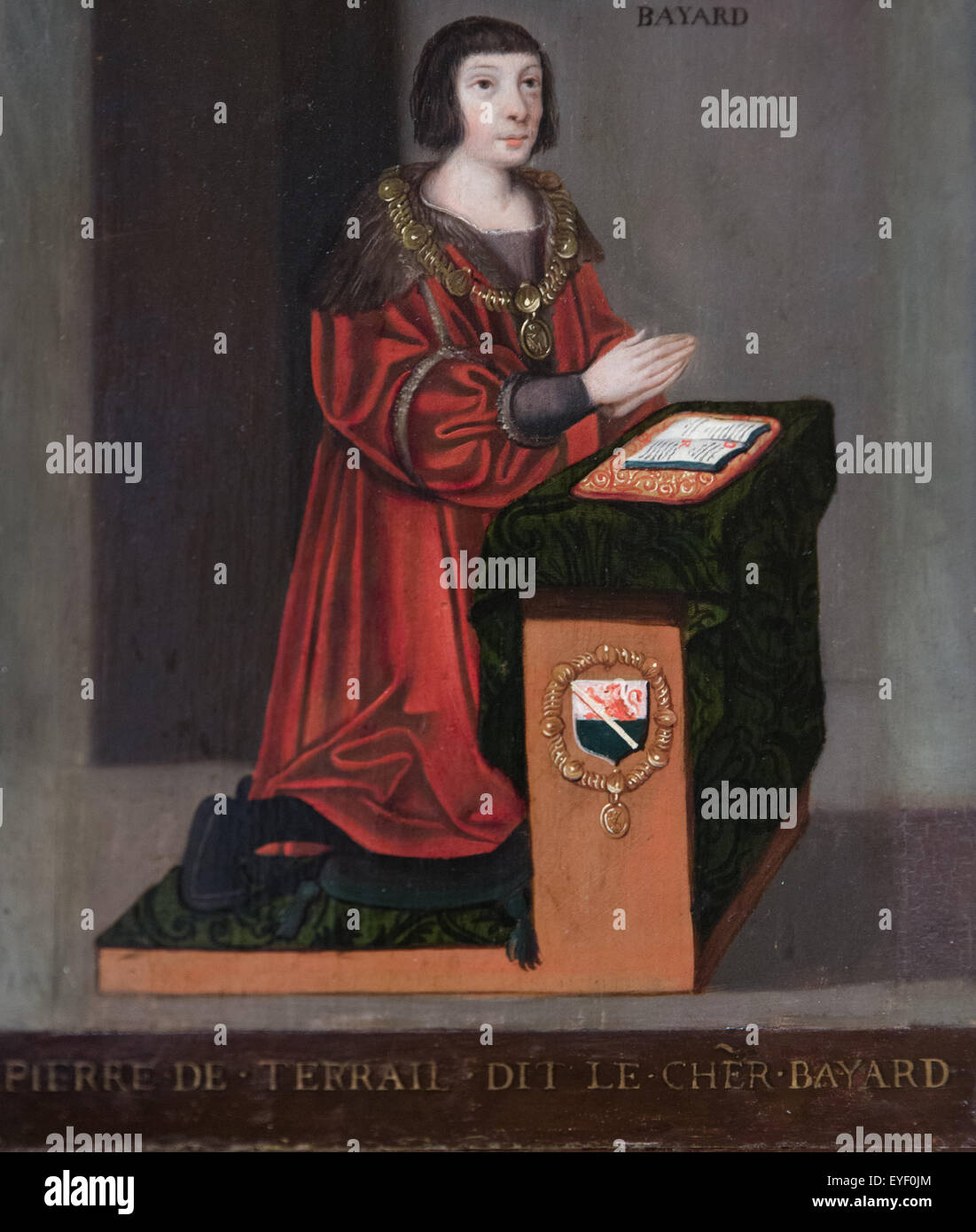 Pierre of Terrail, Lord of Bayard (1475-1524) 07/12/2013 - 16th century Collection - Stock Image