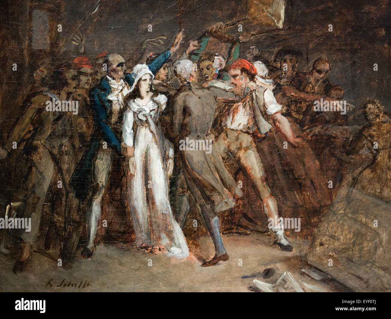 The arrest of Charlotte Corday (1768-1793) 07/12/2013 - 19th century Collection - Stock Image