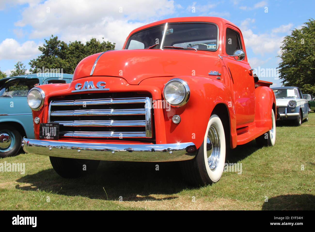 Vintage Gmc Truck Stock Photos Images Alamy 1954 Pickup 1950 Orange Pick Up At A Vehicle Rally Image