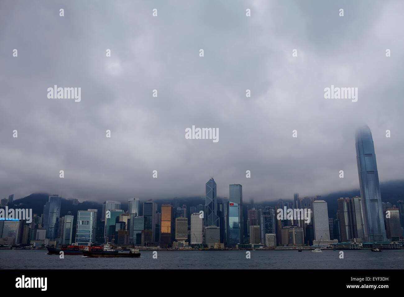 Hong Kong from Tsim Sha Tsui terminal; Hong Kong - Stock Image