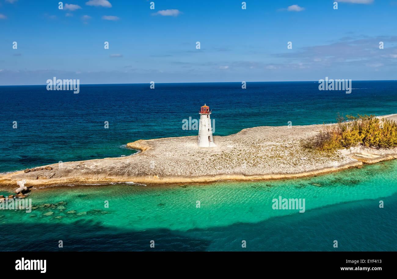 Lighthouse on Paradise Island, Bahamas - Stock Image
