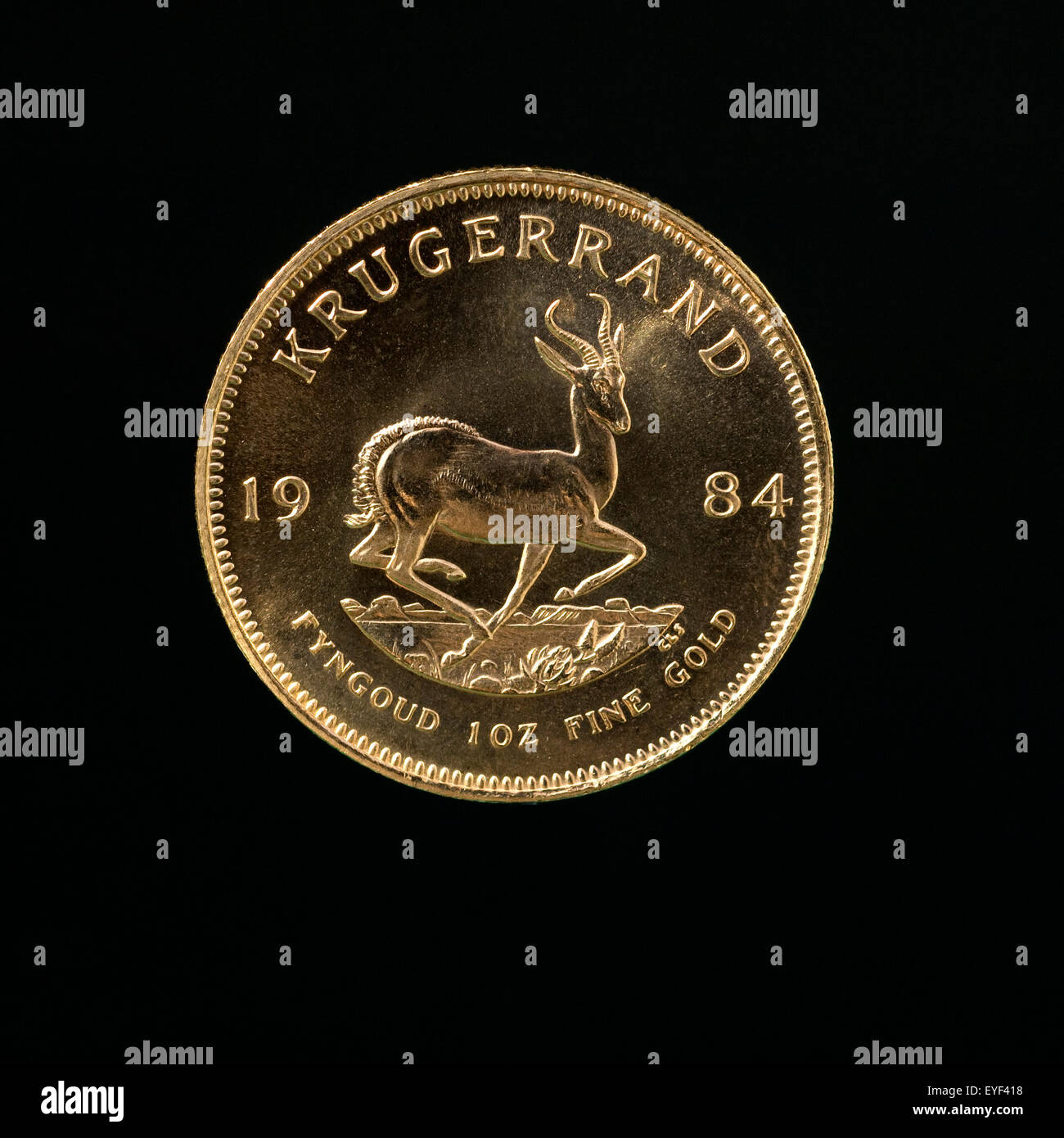 Kruegerrand-Goldmuenze, - Stock Image