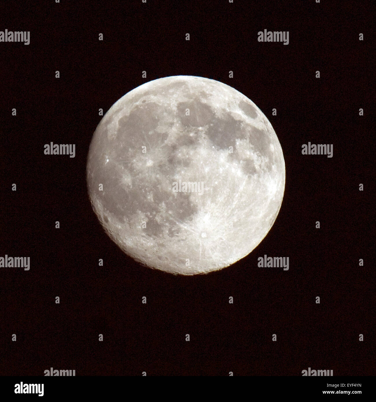 Vollmond; Impression; Gestirn; Erdtrabant; Mond; - Stock Image
