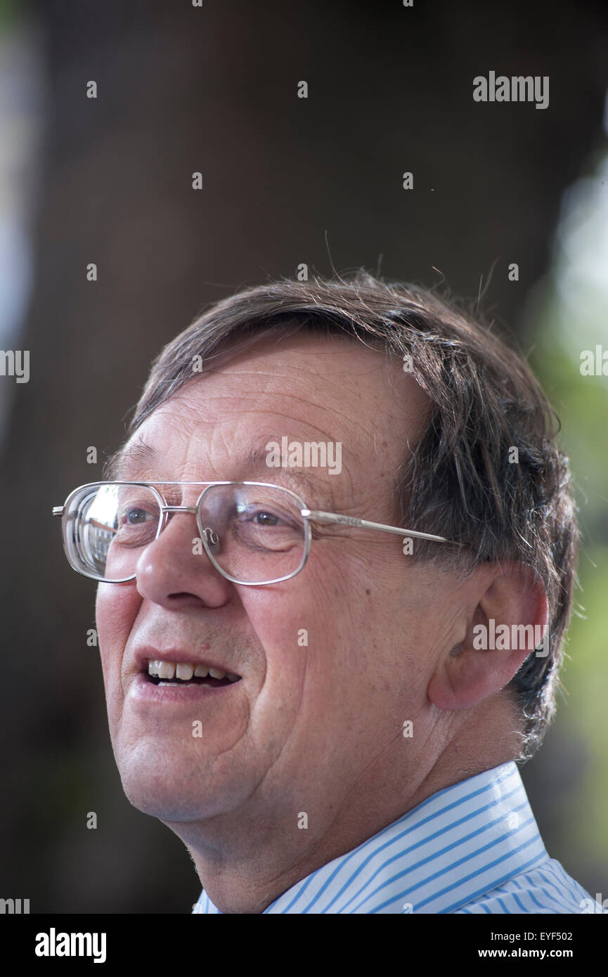 Professor of Politics, Iain McLean, appearing at the Edinburgh International Book Festival. - Stock Image