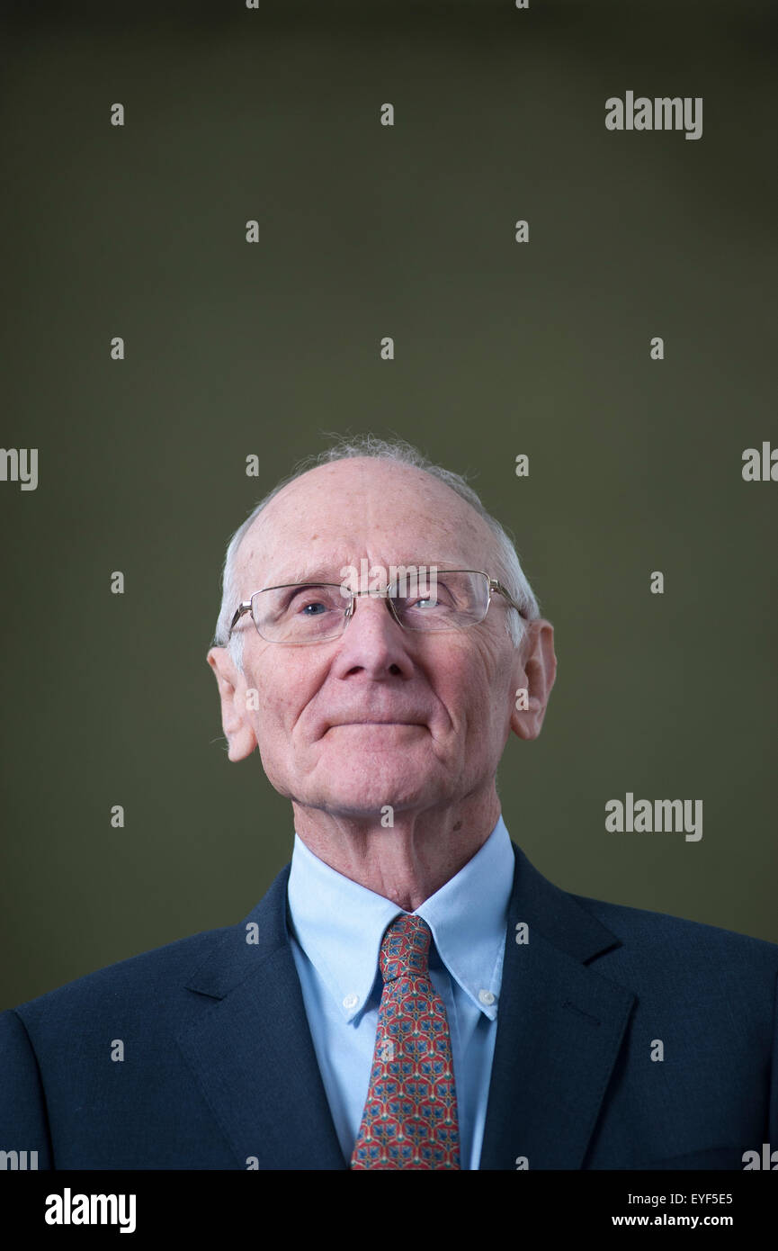 British literary critic, John Carey, appearing at the Edinburgh International Book Festival. - Stock Image