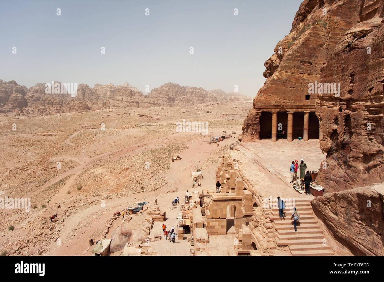 The Urn tomb, part of the Royal tombs; Petra, Jordan Stock Photo