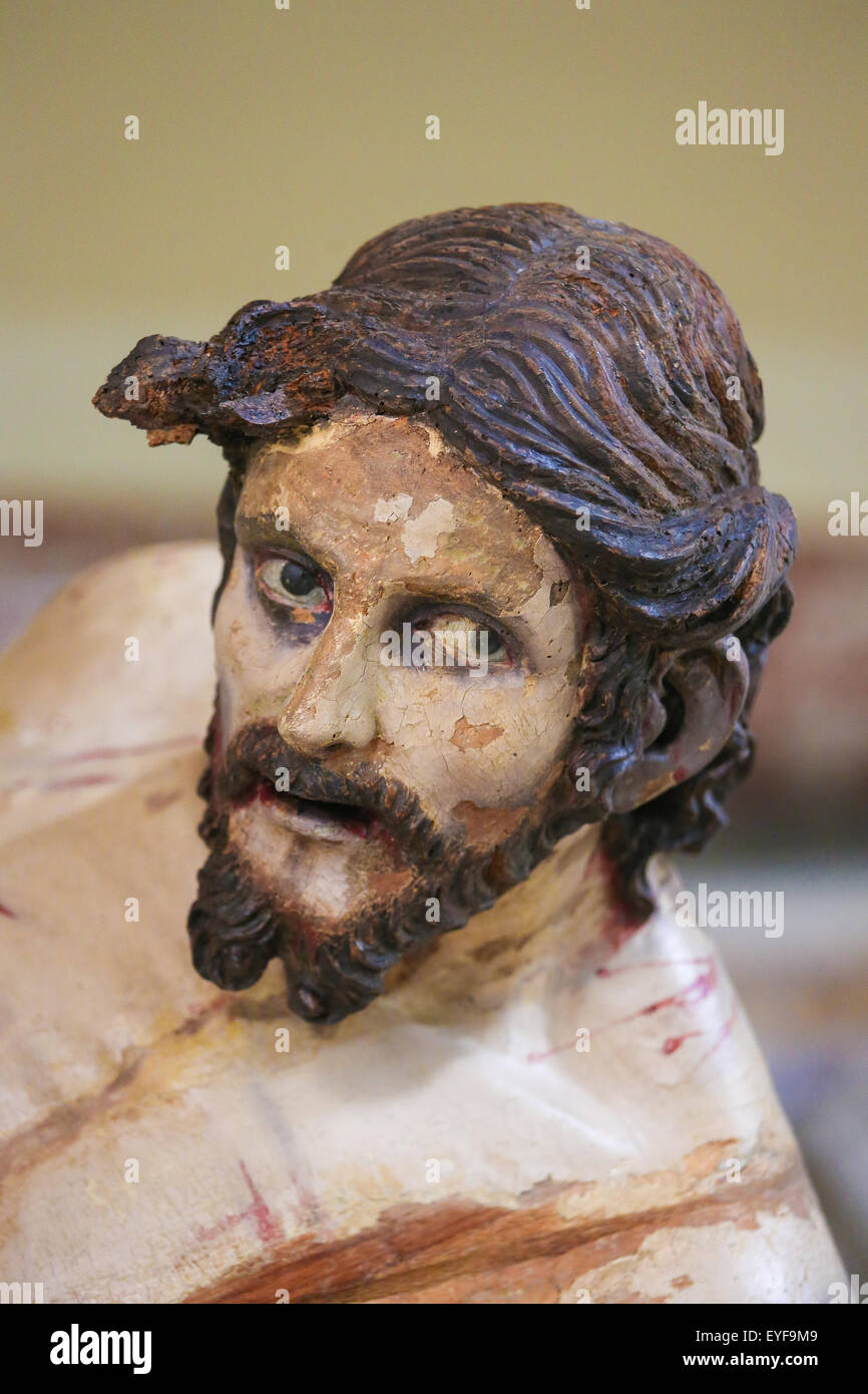 Statue of Jesus on Good Friday in Martina Franca, Taranto province, South Italy. - Stock Image