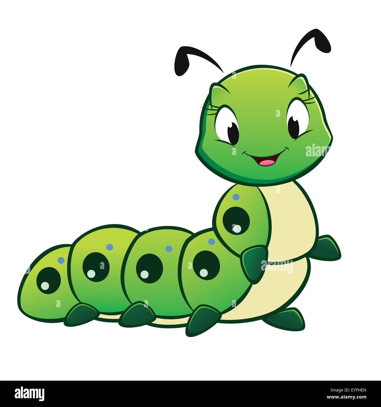 Cartoon Caterpillar Stock Vector Image Art Alamy