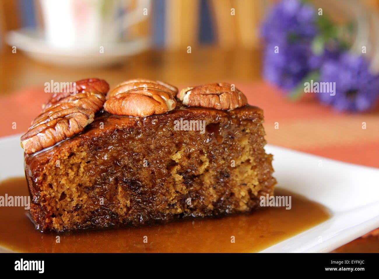 Sticky Date Pudding - Stock Image