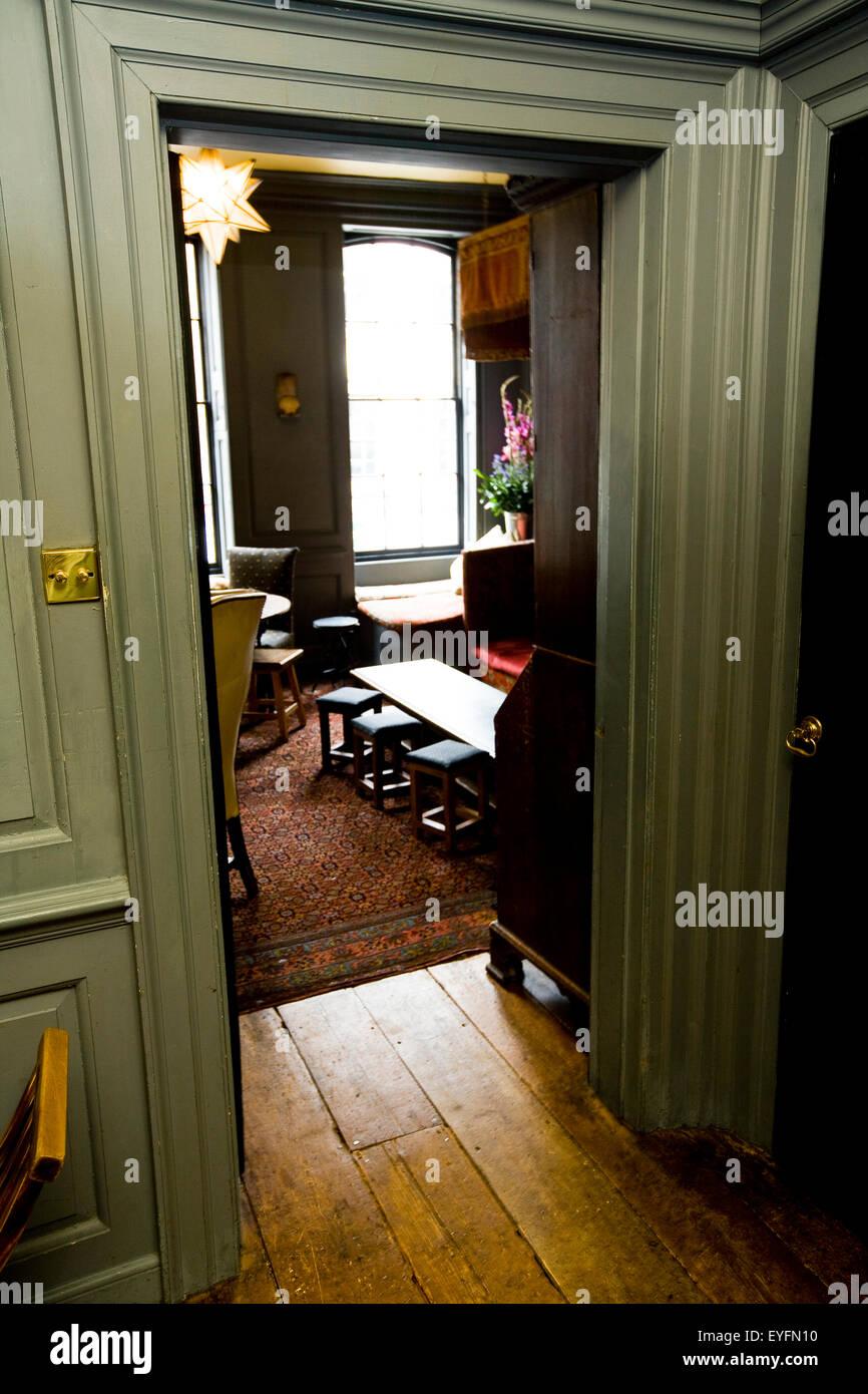 Interior of Blacks private members club, Dean Street, Soho; London, England - Stock Image