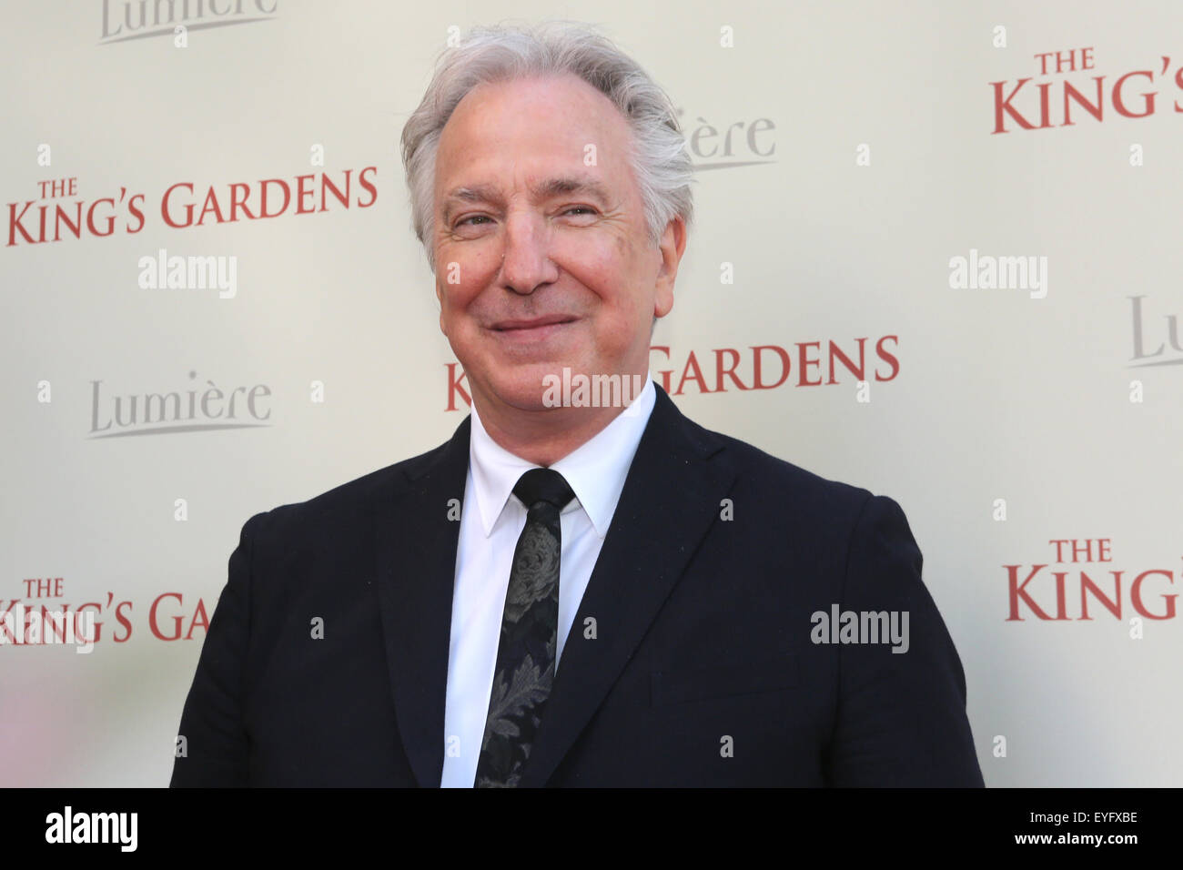 Alan Rickman attends the Dutch premiere of 'The King's Gardens' at Pathe Buitenhof in The Hague  Featuring: - Stock Image