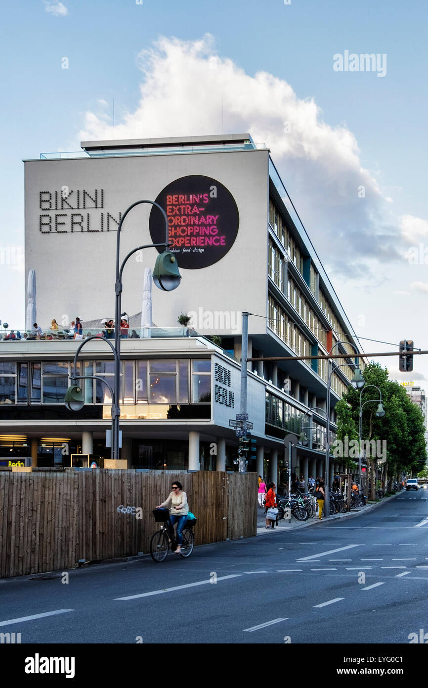 Bikini Berlin Shopping Centre, trendy clothes boutiques and designer clothing store, hotel and shops - Stock Image