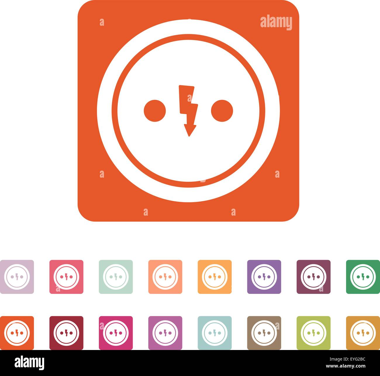 The Electrical Outlet Icon Socket Symbol Flat Stock Vector Art