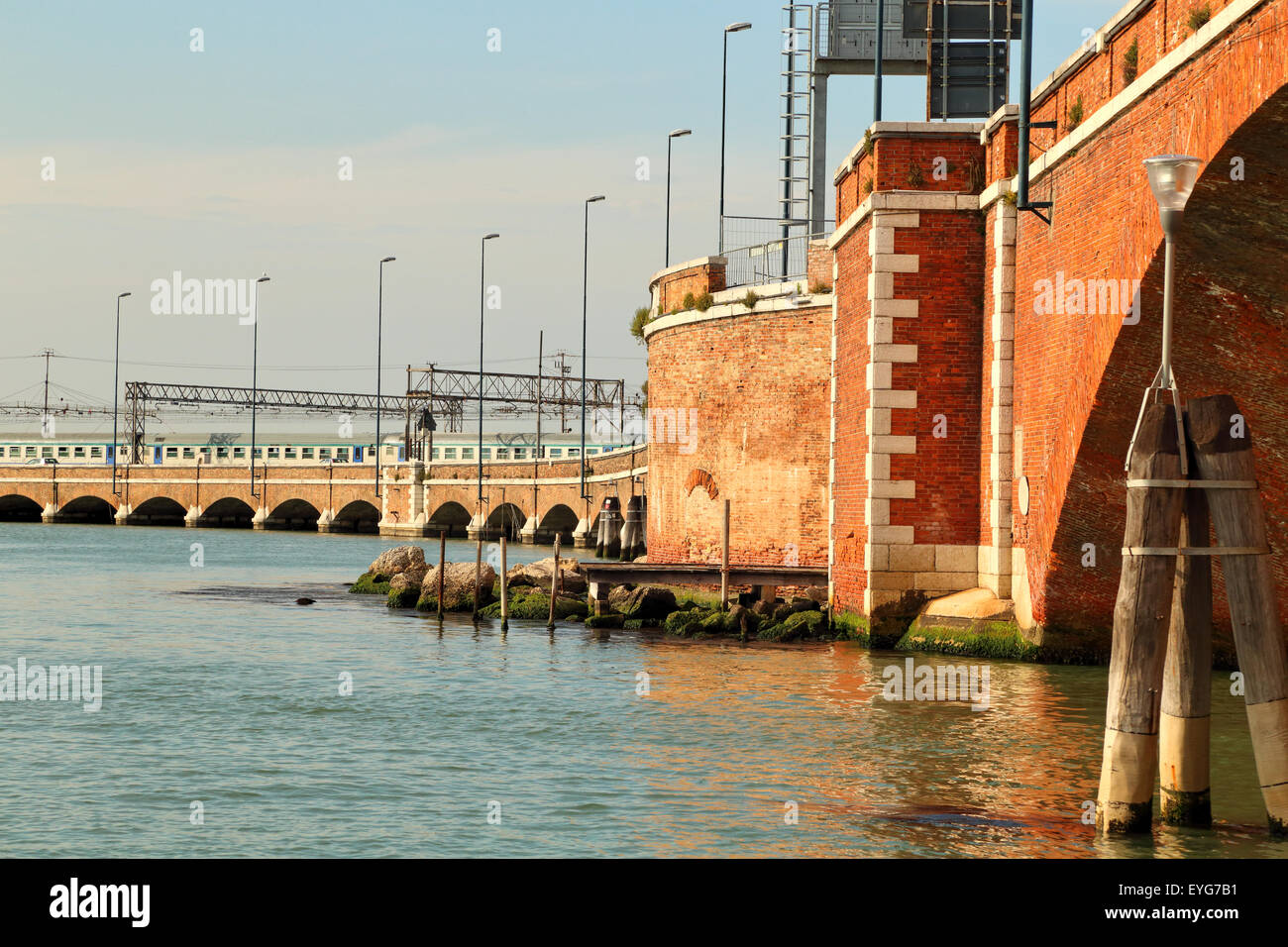 Ponte della Liberta - Venice Railway Bridge (1933) - Stock Image