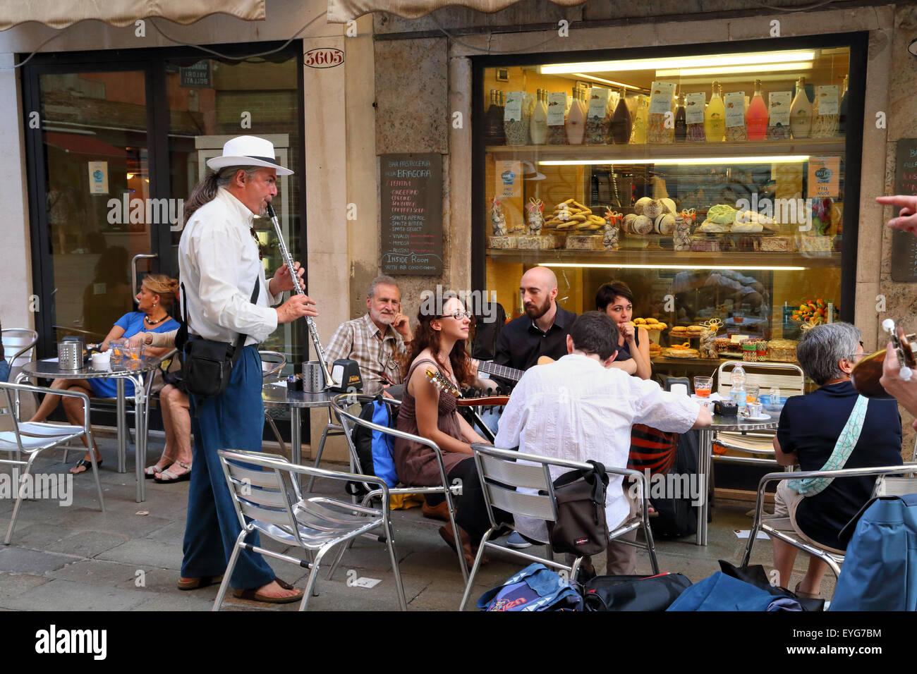 Street musicians buskers - Stock Image