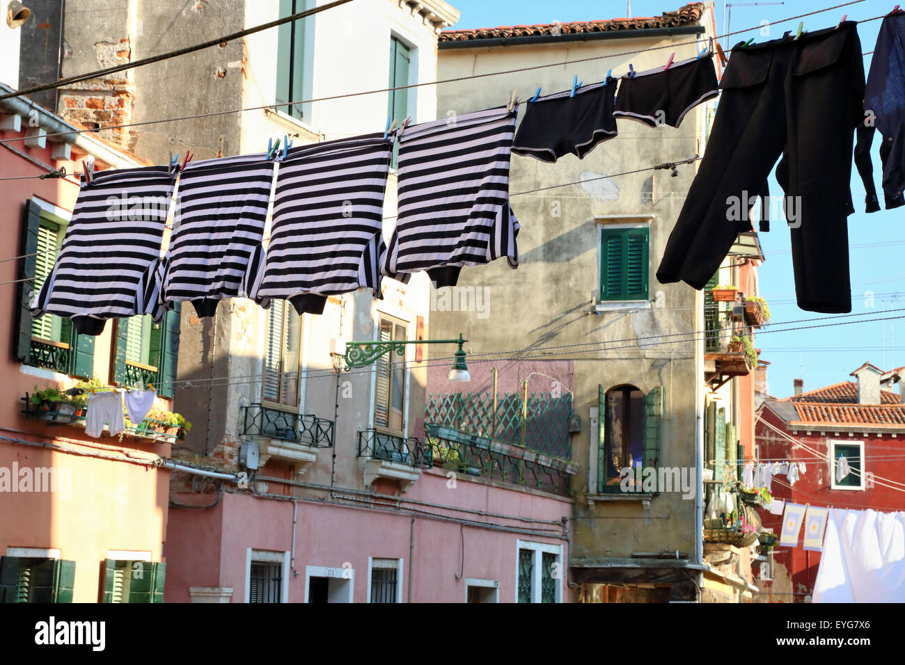House of a gondolier. - Stock Image