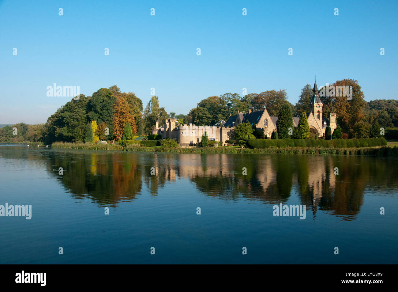 The Fort at Newstead Abbey, Nottinghamshire England UK - Stock Image
