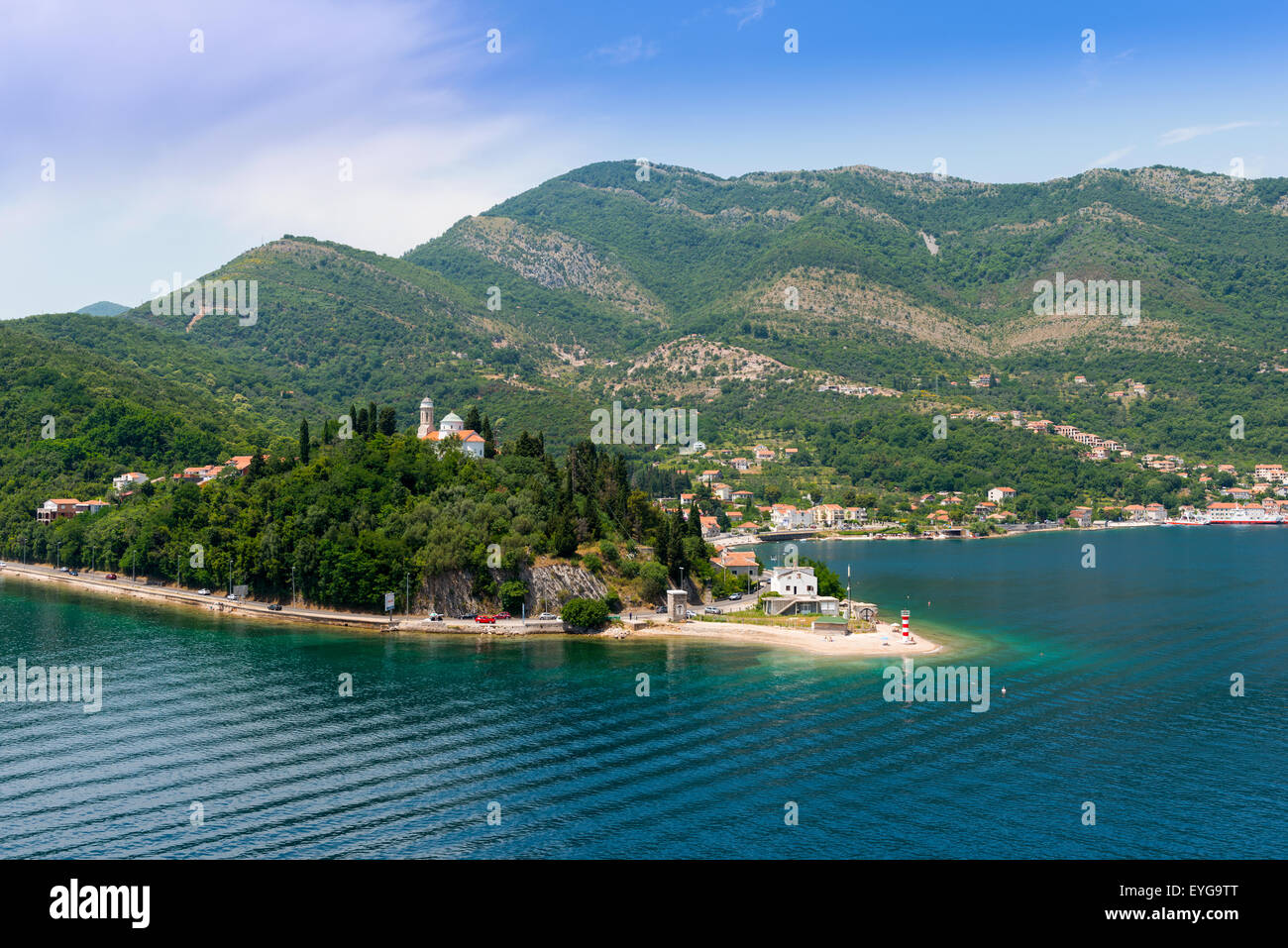 View Approaching Kotor, Montenegro Stock Photo