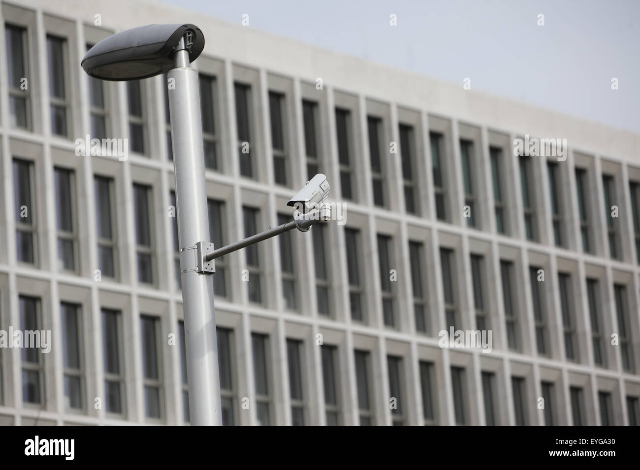 Berlin, Germany, surveillance camera at the new building of the Ministry of the Interior - Stock Image