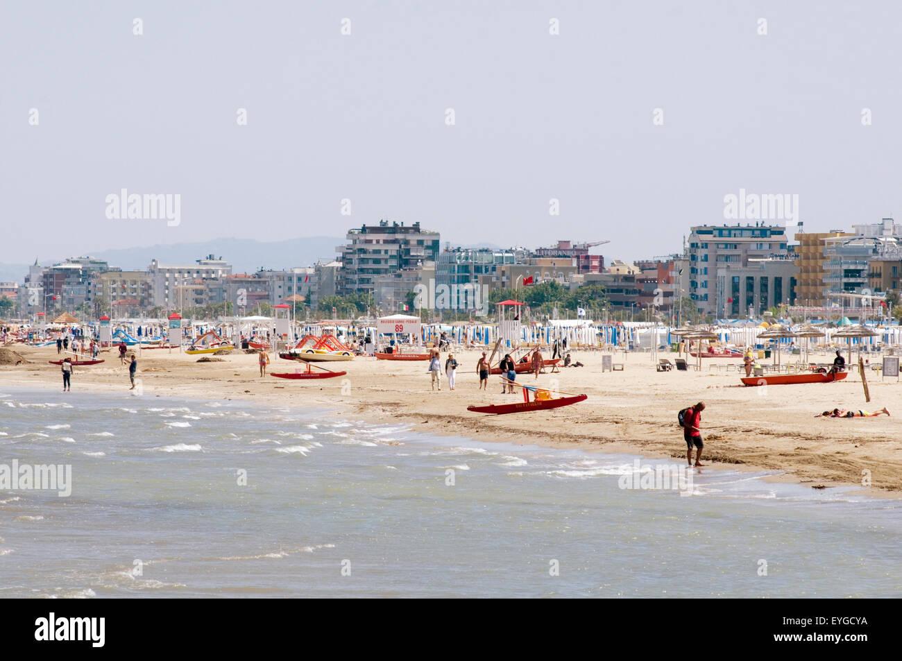 rimini  italy italian east coast resort beach beaches holiday holidays Emilia-Romagna  Adriatic - Stock Image