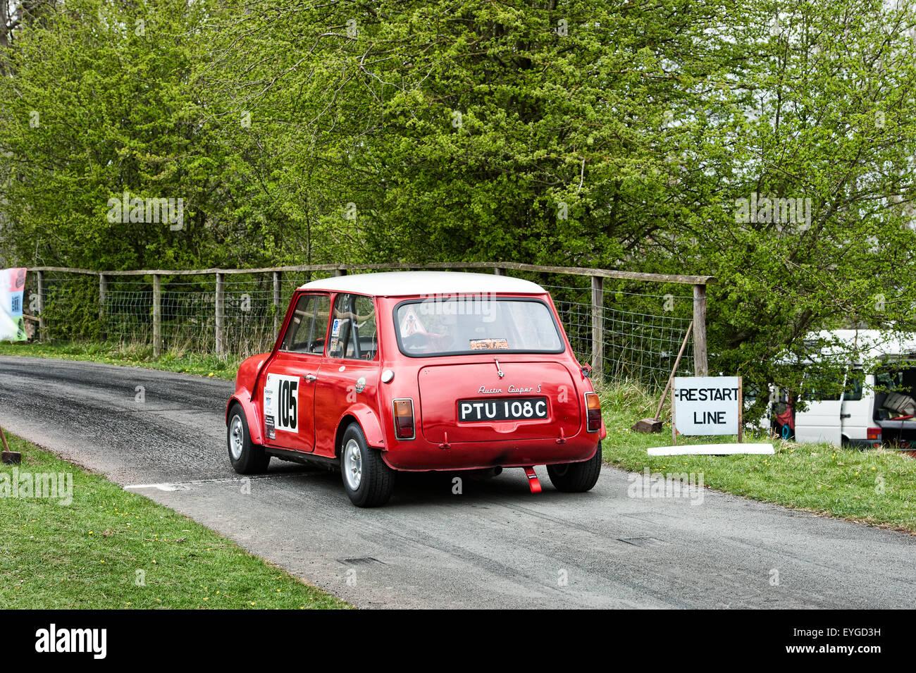 Austin Mini Cooper S Hillclimb Motorsport - Stock Image