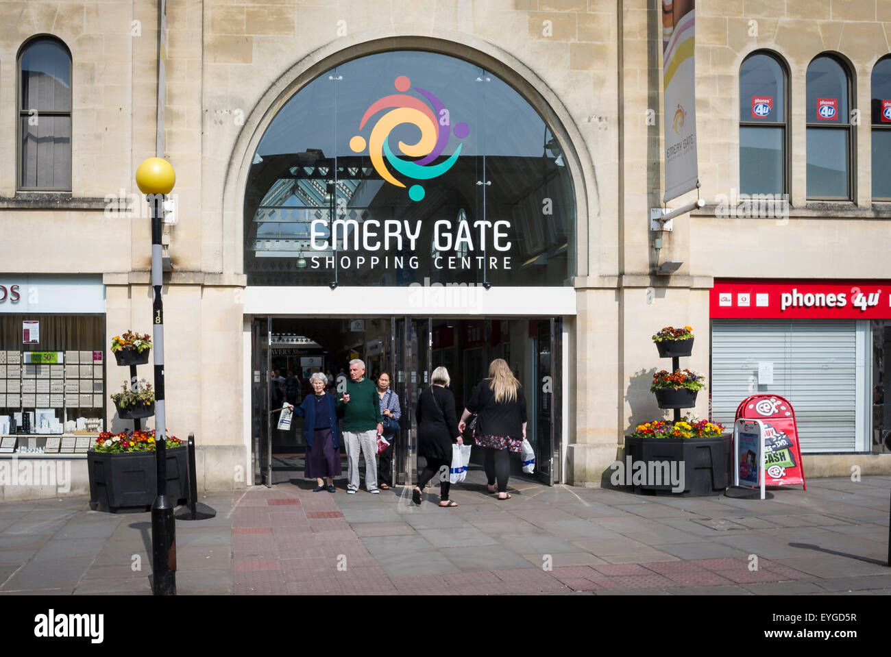 Emery Gate shopping centre entrance in Chippenham Wiltshire UK - Stock Image
