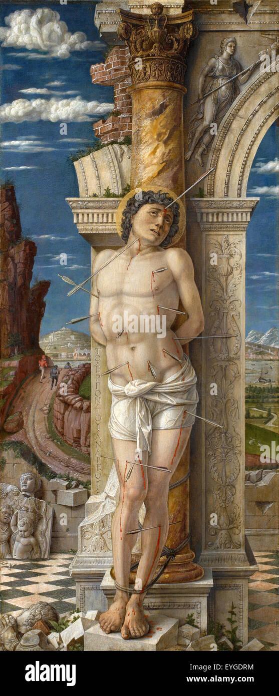 Andrea Mantegna - Saint Sebastian - XV th century - Italian - Stock Image