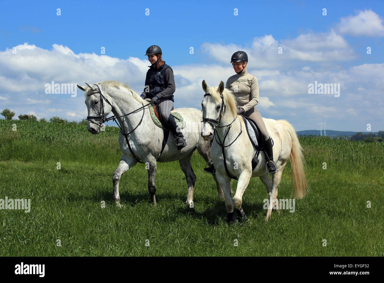 Mother Daughter Horseback Sports High Resolution Stock Photography And Images Alamy