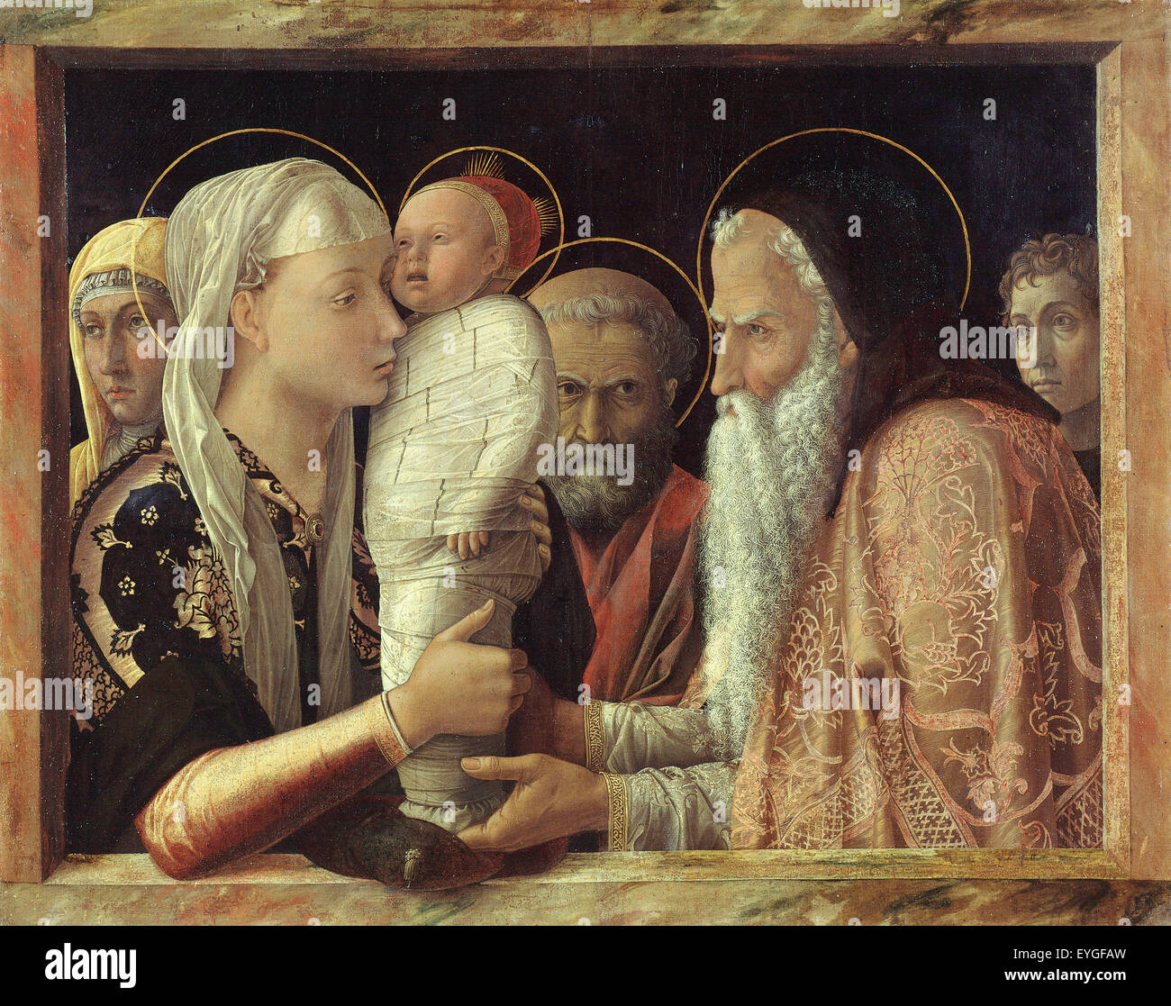 Andrea Mantegna - The Presentation - XV th century - Italian - Stock Image