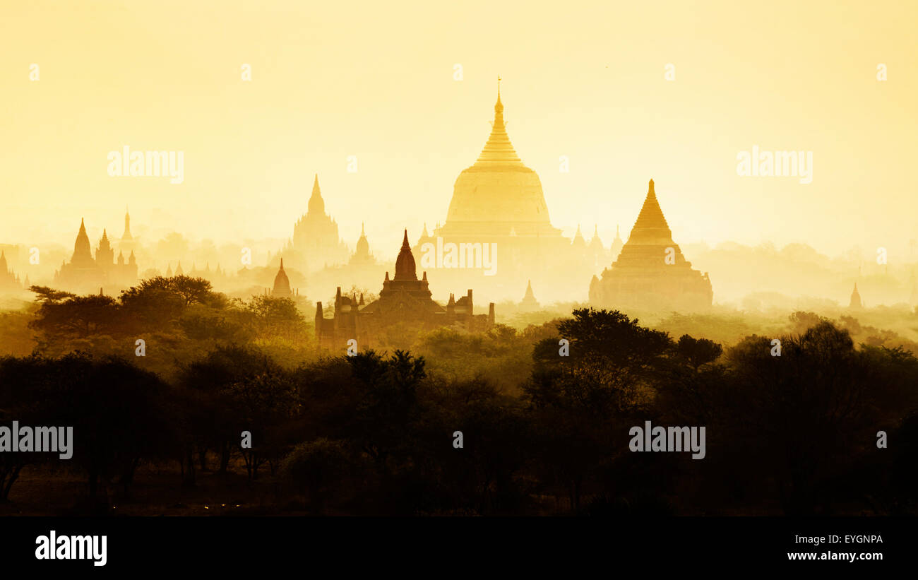 The Temples of Bagan, Pagan, Mandalay, Myanmar. BURMA - Stock Image