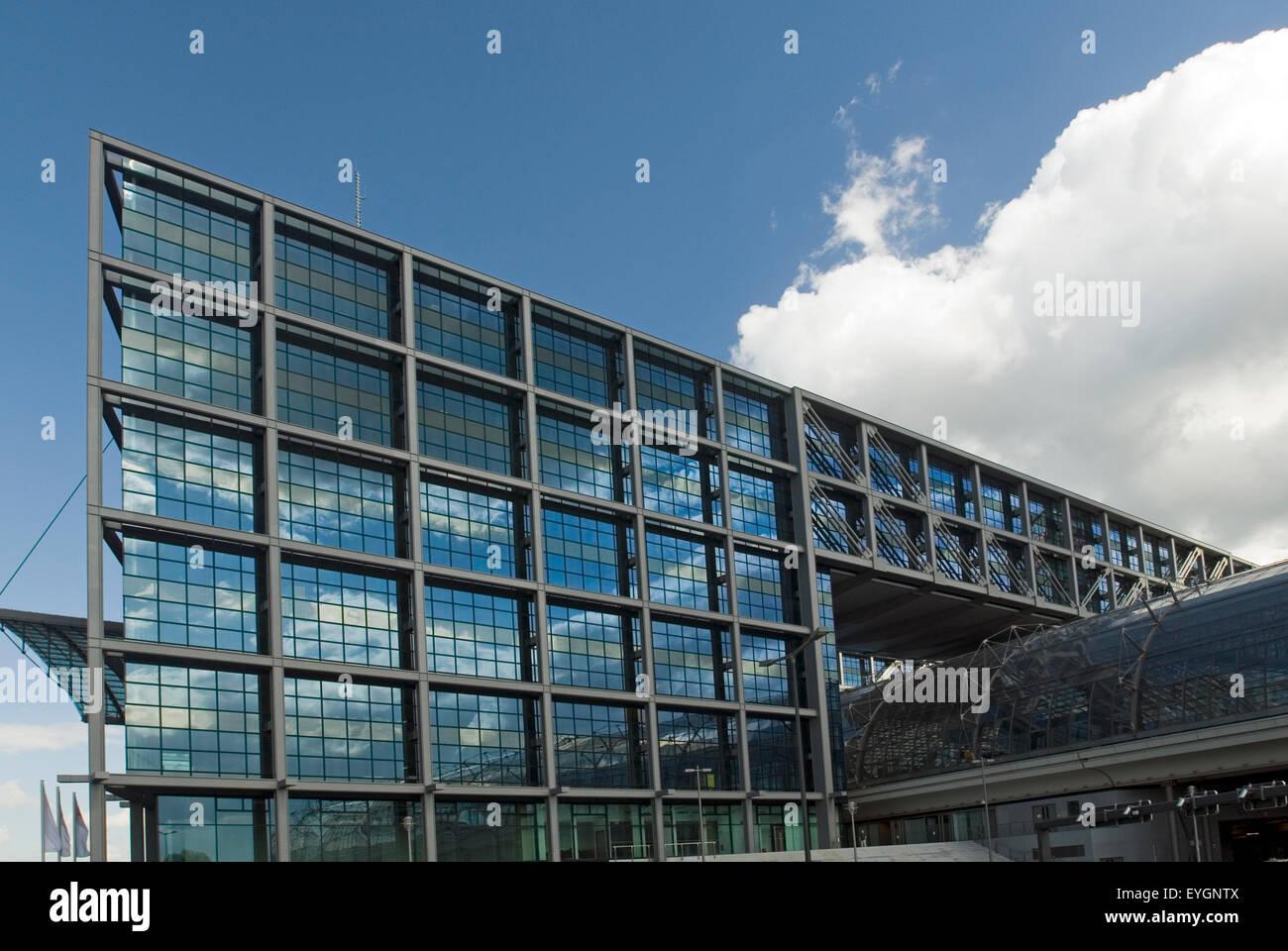 Railway Station Lehrter Berlin Germany Europe - Stock Image