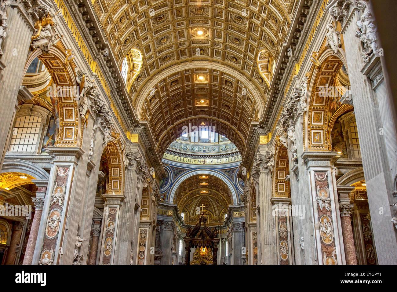 Indoor St. Peter's Basilica - Stock Image