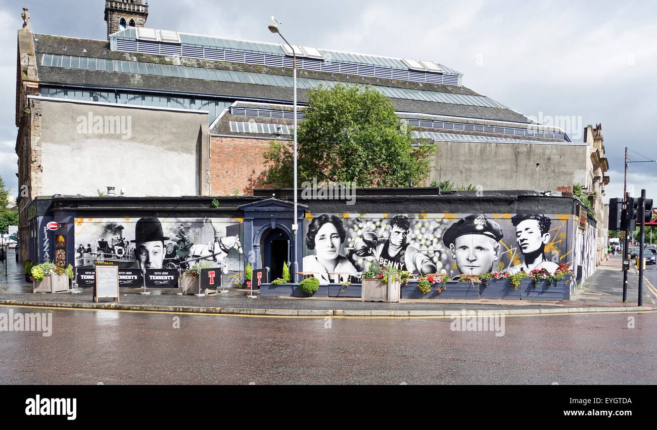 Rebuilt The Clutha pub and bar on the corner of Stockwell Street and Clyde Street Glasgow Scotland - Stock Image