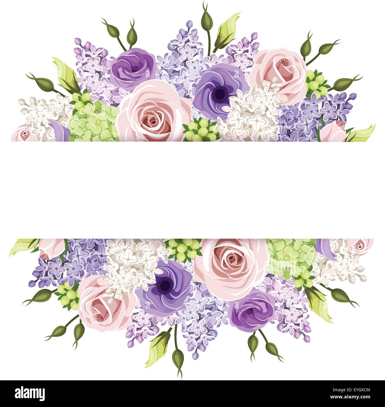 Violet Flower Vector Background