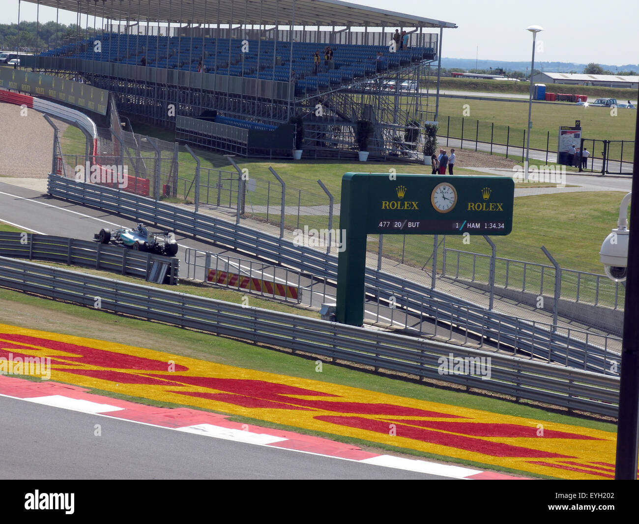 Silverstone F1 British Grand Prix GP England -Pit lane - Stock Image
