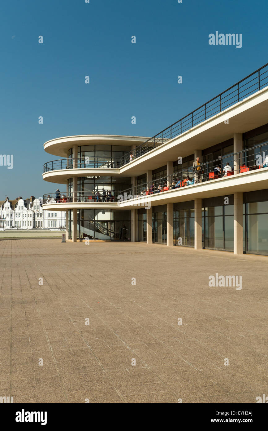 The Famous 1930's De La Warr Pavilion at Bexhill-on-Sea, East Sussex, England - Stock Image