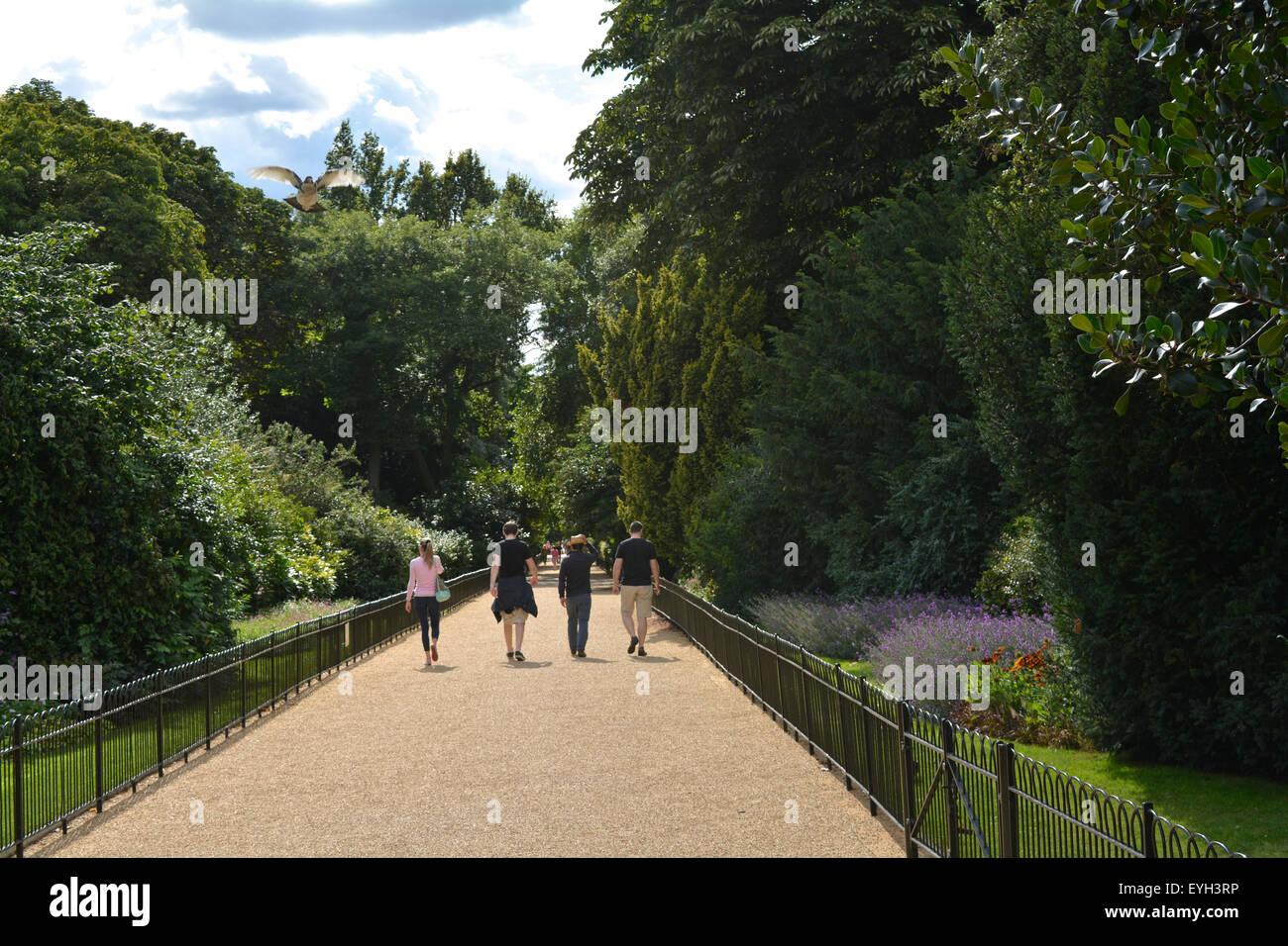 Garden Walk London: Flower Gardens Walking Stock Photos & Flower Gardens Walking Stock Images