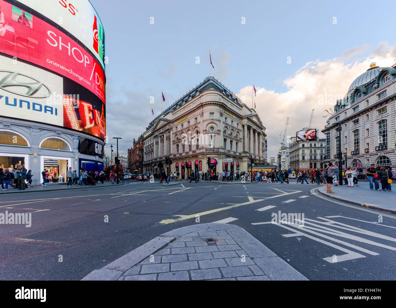 Piccadilly Circus street view London, England - Stock Image