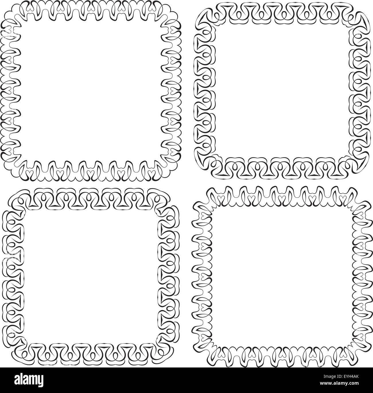 Set openwork vector frame. vignette for design - Stock Image