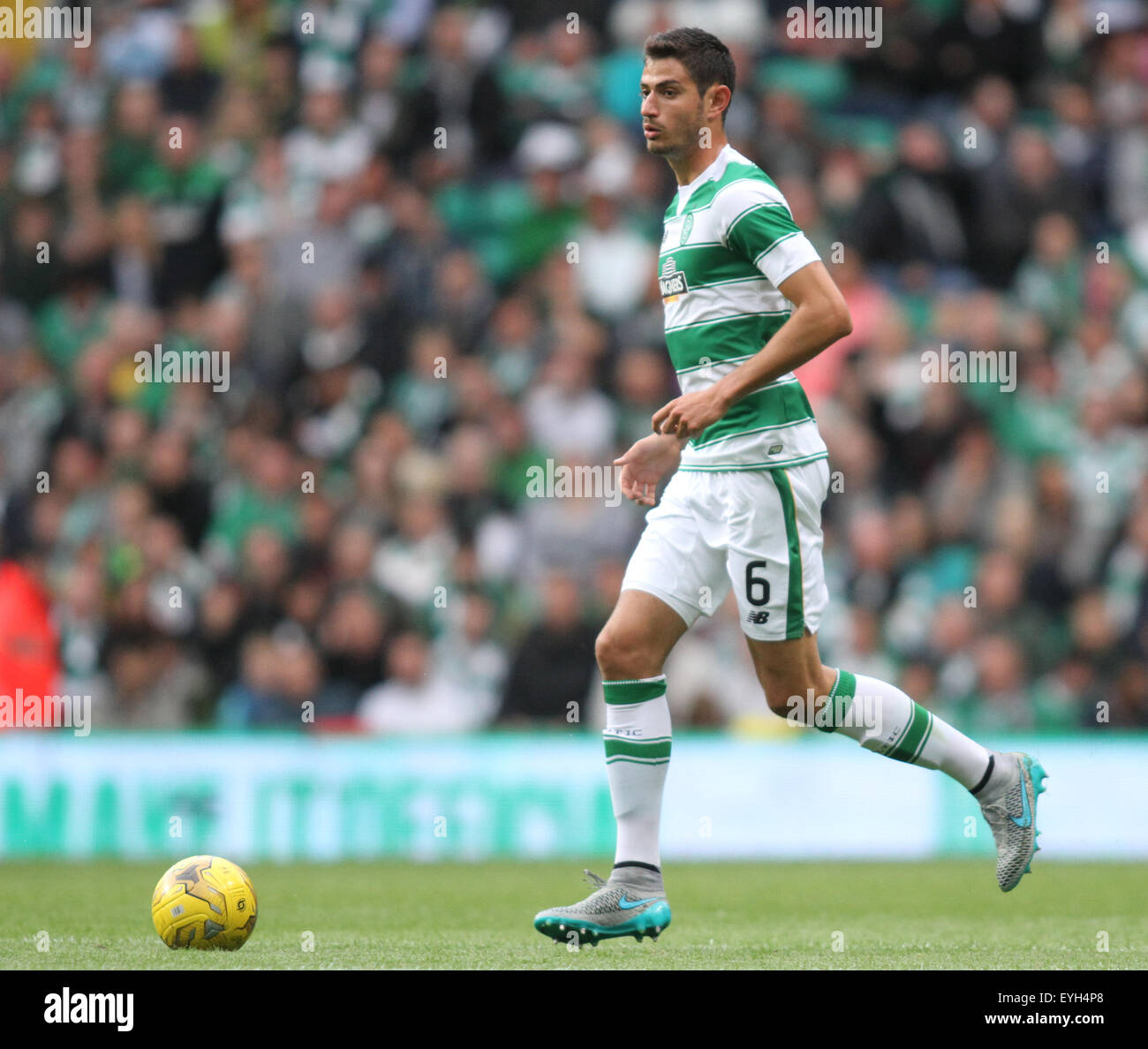 Glasgow, Scotland. 29th July, 2015. Champions League Third Qualifying Round First Leg. Celtic versus FK Qarabag. - Stock Image