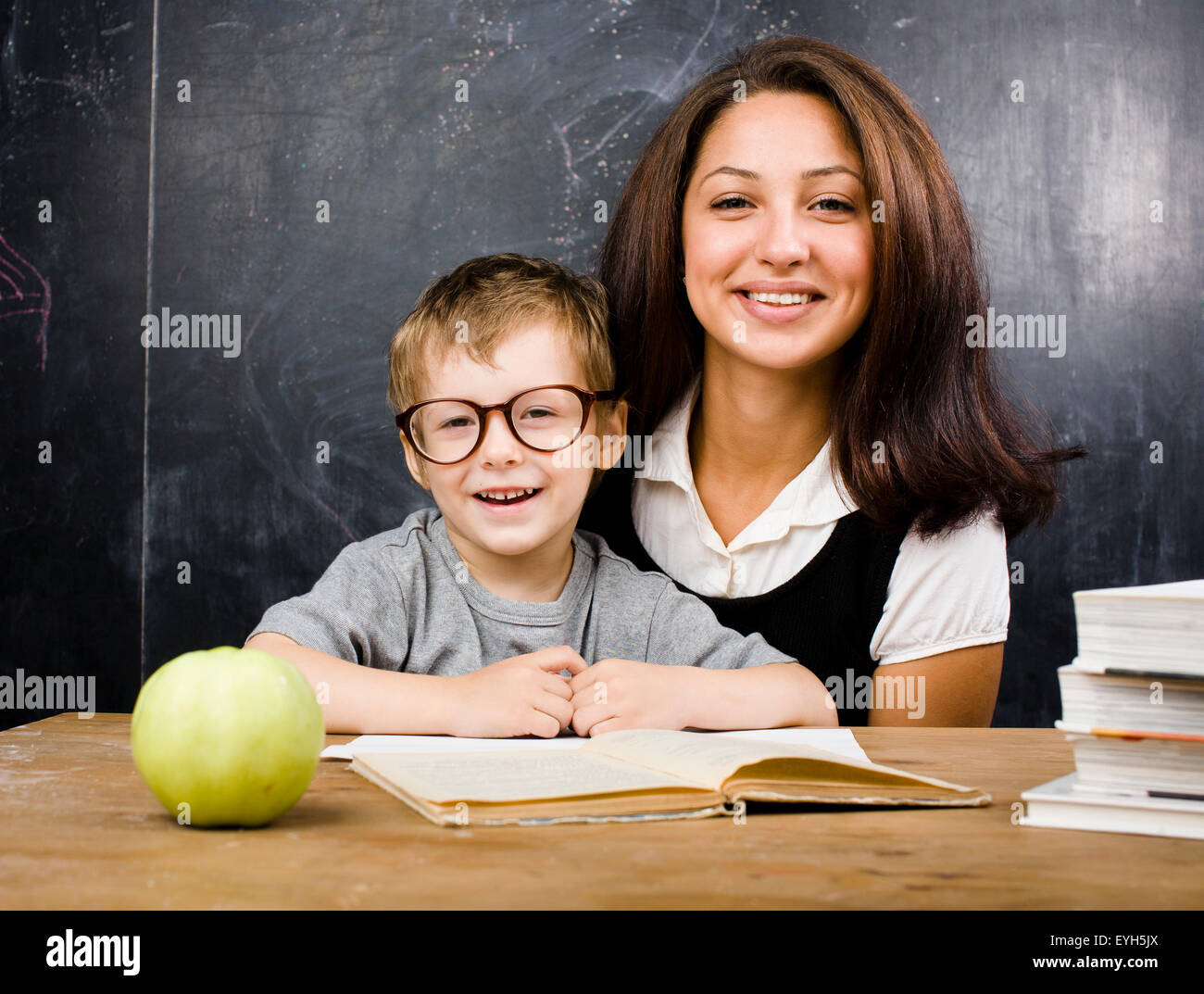 Real teacher and student