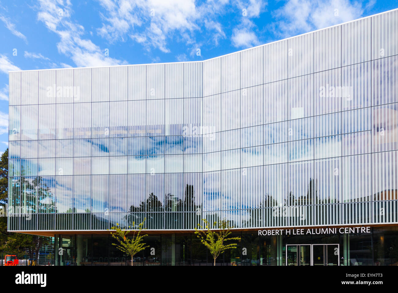Front exterior of the Robert H Lee Alumni Centre on the campus of UBC in Vancouver, British Columbia, Canada - Stock Image
