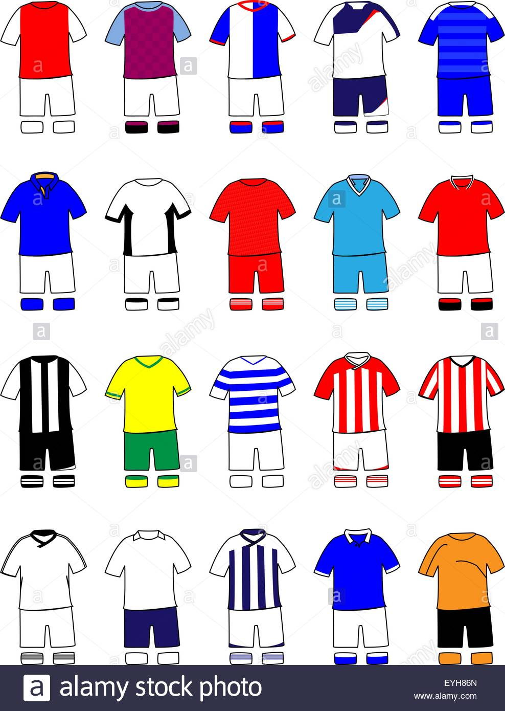 English League Kits 2011/2012 - Stock Vector